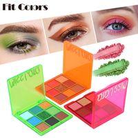 9 цветов тени для век блеск порошок макияж палитра мерцание пигментированные матовые тени для век Палитры неоновые глаза косметика