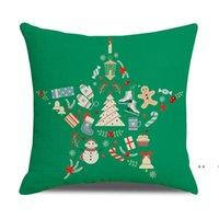 Noel Yastık Kılıfı Noel Baba Dalları Garland Kırmızı Araba Atmak Yastık Çiftlik Evi Yastık Kapak Ev Dekorasyonu FWD10576
