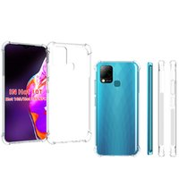 For Infinix Hot 10T  10S Transparent Anti-shock Crystal High Clear Soft Tpu Case