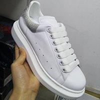 Дизайнерская обувь 100% Тельфскин Мужчины Негабаритные Кроссовки Женщины Замша Плоская Натуральная Кожаная Платформа Тренеры Резиновые Особое okl Sole Box US 11