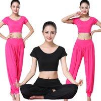 Modal Dance Yoga Abbigliamento By Piece Set fitness vestiti da corsa da donna tuta sportiva manica corta Plus Size Sexy Dancing Dress Dress Soccer Jersey