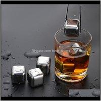 Seaux et refroidisseurs Barware Cuisine, Maison à Maison Jardin Steel Steel Steel Cube de Whiskey Vin de Whiskey Beer Rock Cooler Non toxique Partie saine