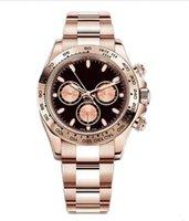 Reloj, diseño maestro, estilo deportivo para hombres, movimiento automático, caja de acero inoxidable de oro rosa, hebilla plegable, venta al por mayor y al por menor