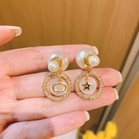 Stylish pearl earrings for ladies and girls parties wedding couples engagement jewelry gift