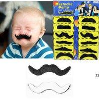 12pcs / 세트 할로윈 파티 의상 가짜 콧수염 콧수염 재미 있은 가짜 수염 위스커 파티 의상 HWB8549