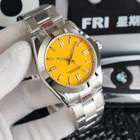 En klasik istiridye tarzı erkek mekanik saat, çeşitli renklerle gümüş paslanmaz çelik, 2813 hareket lüks otomatik spor su geçirmez safir