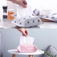 Boîtes de mouchoirs de tissus Chambre Creative Boîte Creative Tissu Tissu Home Bureau Salon Supérieur SupérieurImplement Table de table Table de table de table