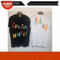 Moda de calle europea y estadounidense Mercado Chinatown Mercado T-shirt de manga corta Series de impresión de espuma tridimensional T # NV02