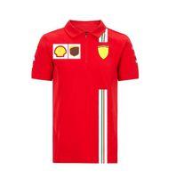 F1 Formula One Racing Team Fans نفس قميص بولو طية صدر السترة قصيرة الأكمام تي شيرت