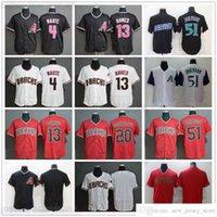 2021 Baseball cosido 13 Nick Ahmed Jerseys Blanco Rojo Negro 4 Starling Marte 51 Randy Johnson 20 Luis González Jersey Nombre Nombre