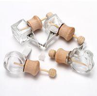 Автомобильная парфюмерная бутылка для эфирных масел освежитель воздуха аромат воздуха вентиляционные выпускные пустые стеклянные бутылки GGA5105
