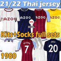2021 2022 Aston Villa Futebol Jerseys Buendia El Ghazi Traoré Grealish Wesley McGinn Retro Watkins Sanson 21/22 Goleiro Homens Kit Kids + Socks Full sets Jersey