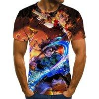 Men's T-Shirts Fun Kimetsu No Yaiba Theme Boy Costume Anime Harajuku T-shirt Summer Fashion Tops 3D T Shirt Plus Size Streetwear