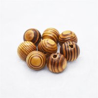 500 pcs / lote 6 tamaños para perlas de madera espaciador de madera aptos para collar de pulsera bricolaje joyería de bricolaje 14 W2