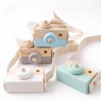 Yapalım 1 adet Ahşap Bebek Oyuncakları Kamera Ahşap Blokları Kolye Montessori Oyuncak Çocuklar için DIY Mevcut Hemşirelik Hediye Blok