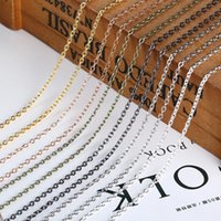 Aclovex 10m / lot عرض 2 ملليمتر المعادن الحديد رولو رابط سلاسل السائبة الذهب الفضة قلادة سلسلة قلادة سلسلة سوار النتائج لصنع المجوهرات 1486 Q2