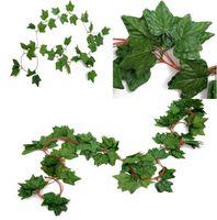 الاصطناعي وهمية شنقا كرمة النباتات أوراق حديقة الديكور أوراق الشجر زهرة جارلاند الرئيسية الجدار شنق ديكورات اللبلاب فاينز لوازم RRD7210