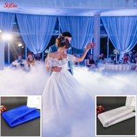Décoration de scène 5mx48cm Tulle Sweer Cristal Organza Gauze Tissu Blanc pour la décoration de mariage Événement 8Z Décoratif Fleurs Couronne de guirlande