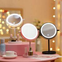 Katlanabilir Masaüstü LED Işık Makyaj Net Kırmızı 360 Derece Rotasyon Başucu Aydınlık Soyunma Ayna
