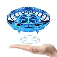 دروبشيبينغ هليكوبتر ufo rc بدون طيار استنشاف اليد الاستشعار الطائرات النموذج الإلكتروني quadcopter flayaball الصغيرة drohne لعب للأطفال