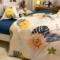 Bedding Sets Fashion Duvet Cover Set With Flat Sheet Pillowcase Kids Boys Girls Single Double Queen Size Home Bedclothes