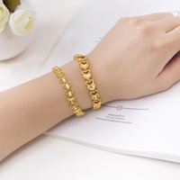 Fashion Healthy Energy Bracelet Hearted Design Copper Health Care Magnetic Gold Hand Chain For Women Link,
