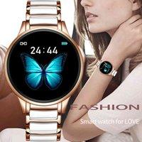 Designer luxury brand watches Smart Women Waterproof Sports Fitness Tracker For Android ios Reloj inteligente Ceramic Strap smart Men