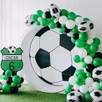 Party Decoration Round Soccer Foil Balloons Football Sports Theme Birthday Decorations Green Black Latex Ballons Kid Toy Supplies