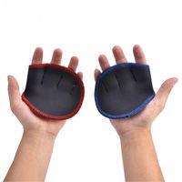 Unisex Anti Skid Peso Levantando Luvas Fitness Esportes Esportes Dumbbell Grips Pads Gym banco Press Exercenses Hand Palm Protector