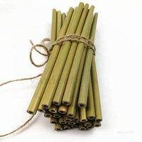 Bere cannucce verdi cannucce di bambù di protezione ambientale bevanda bevanda tè al latte caffè giallo giallo bambù strumenti di paglia ZC258