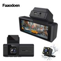 Faaodoen 3-дюймовый HD IPS-экран Dash Cam Car DVR Recorder 1080P видео DUAL DUAL объектив камеры GPS DVR
