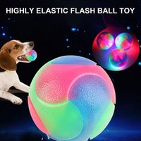 Small Animal Supplies L/S SizeLight Up Dog Balls Flashing Elastic Ball LED Dogs Glowing Pet Color Light Interactive Toys For Puppy Cats