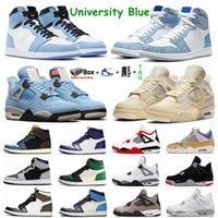 Университет Blue 1S Jumpman 1 Баскетбольные туфли Черный кот COT 4 4S HYPE ROYAL UNC Obsidian Белый цемент Какой плавание Гуавa Ice Sports мужские женские кроссовки