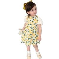 Девушка платья Vidmid GirlPrincess Bloom Party Cotton Floral платье для девочек детское лето P4407