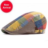 Fibonacci 2020 Yeni Yaz Newsboy Cap Bayan Ekose Pamuk Bere Şapka İngiliz Fransız Vintage Caps Klasik Erkek Flatcap