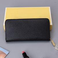 Avec boîte de cartes de la boîte à glissière simples à fermeture à glissière pour femmes femmes véritable portefeuille porte-monnaie