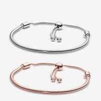 925 sterling zilveren armbanden voor vrouwen sieraden DIY fit pandora charme slang chain schuif aantal bedels armband ontwerp mode klassieke dame geschenk met originele doos