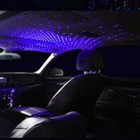 자동차 지붕 스타 라이트 인테리어 LED 별이 빛나는 레이저 분위기 앰비언트 프로젝터 USB 자동 장식 밤 홈 장식 갤럭시 조명