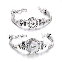 Bracelets de charme Bracelet de mode interchangeable Bracelet en métal de gingembre 122 12mm 18mm Bouton Snap Bouton Charms pour Femmes Bijoux Cadeau