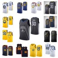 """Jersey de basquete 30 Stephen """"Curry Men 2021 Golden"""" State """"Guerreiros"""" Jersey"""