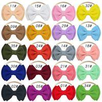 20 لون الأطفال طبقة مزدوجة bowknot النايلون عقال اكسسوارات للشعر الصغيرة طفل صور أغطية الرأس