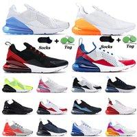 2019 nike air max airmax 270 27c mens tênis de corrida criados Volt Preto Gradiente soco quente Regência Roxo foto azul SE Floral chaussures desinger sneaker trainer 36-45