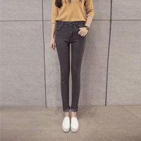 Autumn And Winter 2021 Fashion Casual Girls Teenagers Students High-waist Women\'s Mm Slim Tall Jeans Skinny Pencil Feet Pants Women's