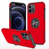 Carro Magnético Bracket Proteção de Câmera Completa Casos para iPhone 12 Mini 11 Pro Max Samsung A71 A51 A52 A72 S21 PLUS Ultra LG Stylo 6 7 Style7 Style6 Celular caso
