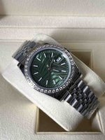 2021 Datejust Green Dial Unisex Mens Watch 36mm Sapphire Glass Automatic Mechanical Stainless Oyster Perpetual Turquoise 124300 Wristwatches