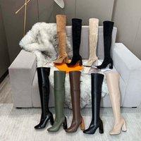 Fashion Casual Couleur Correspondant Tour Rond Tête Femmes Designer Bottes Casual Femmes Casual Femmes Bottes de Cowboy Chaussures de cow-boy 10 2502