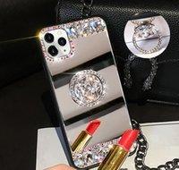 Celular 3D Acrílico Sunjolly Mirror Diamond Case para 11 Pro XS MAX XR 87 66S PLUS SE SE TELÉFONO CUBIERTE COVER COCHE FUNDAS GPIOJ FZEHW