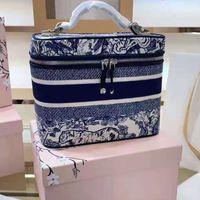 Moda femenina más vendida bolsas de cosméticos diseñador lienzo bolso de belleza de lujo de la marca de lujo de gran capacidad Tiger patrón maquillaje caja de almacenamiento