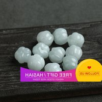 Jadeite A-goods beads Loose Pearl ice waxy jade pumpkin DIY Necklace hand string accessories