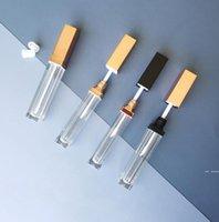Пустые квадратные пробирки для блеска губ DIY прозрачные губы домохозяйственные подсветки глазурья контейнеры покрасневшие губные бутылки 5 мл HWE6142